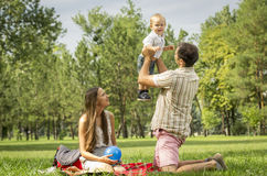 Rodzina pinkin Zdjęcie Stock