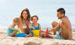 rodzina plażowa 4 Fotografia Stock