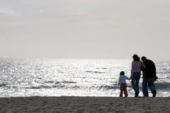 rodzina plażowa Obraz Stock