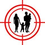 Rodzina pod celem Szczęście cel ilustracja wektor