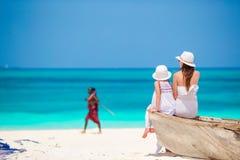 Rodzina podczas plaża wakacje w Afryka Zdjęcie Royalty Free