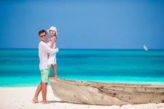 Rodzina podczas plaża wakacje w Afryka Fotografia Royalty Free