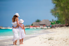 Rodzina podczas plaża wakacje w Afryka Obraz Stock