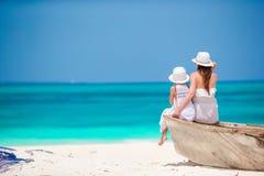 Rodzina podczas plaża wakacje w Afryka Fotografia Stock