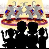 Rodzina przy cyrkiem ilustracja wektor
