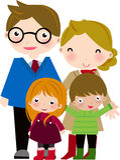 rodzina szczęśliwa ilustracja wektor