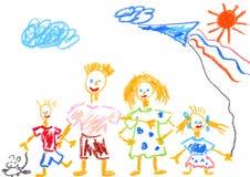 rodzina szczęśliwa Obrazy Royalty Free