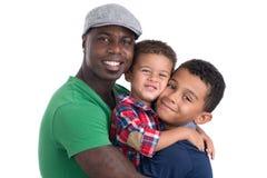 Rodzina trzy mężczyzna Zdjęcia Stock