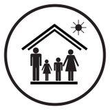 Rodzina w house1 ilustracji
