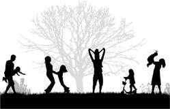 Rodzina w naturze royalty ilustracja