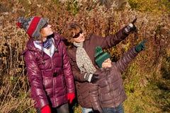Rodzina w parku Fotografia Royalty Free