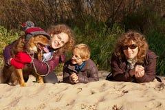 Rodzina w parku Obraz Stock