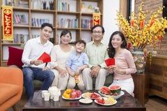 Rodzina wpólnie na tet wakacje Obraz Royalty Free