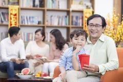 Rodzina wpólnie na tet wakacje Fotografia Stock