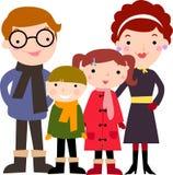 Rodzina z białym tłem Zdjęcia Stock