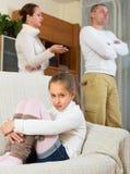 Rodzina z córką ma konflikt obrazy stock