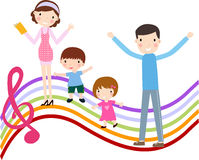 Rodzina z Dwa dzieciakami ilustracji