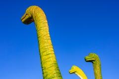 Rodzina zachodni denni dinosaury zdjęcia stock