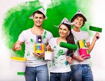 Rodzinna farby ściana w domu. Obrazy Stock