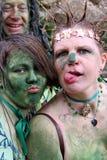 rodzinna festiwalu zieleni dźwigarka zdjęcie royalty free
