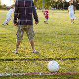 rodzinna gemowa piłka nożna Obrazy Royalty Free