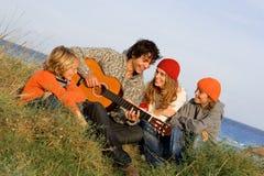 rodzinna gitara obrazy stock