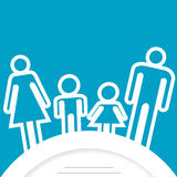 Rodzinna ikona z miejscem dla teksta Zdjęcia Stock