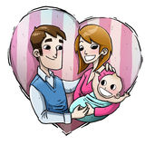 Rodzinna miłość royalty ilustracja