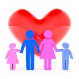 Rodzinna miłość Obrazy Royalty Free