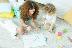 Rodzinna opieka dzienna obrazy royalty free