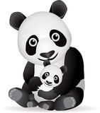 rodzinna panda Obraz Royalty Free