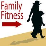 rodzinna sprawność fizyczna Zdjęcia Stock