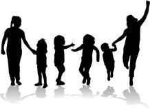 Rodzinna sylwetka ilustracja wektor