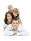 rodzinna szczęśliwa fotografia Zdjęcie Royalty Free