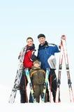 rodzinna szczęśliwa zima fotografia royalty free