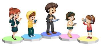 rodzinna technologia royalty ilustracja