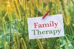 Rodzinna terapia fotografia royalty free