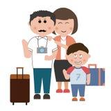 Rodzinna wycieczka Zdjęcia Stock