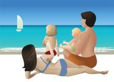 Rodzinna wycieczka turysyczna Obraz Stock