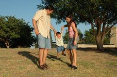 rodzinna zabawa Zdjęcie Stock