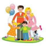 rodzinna zabawa ilustracji