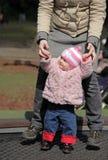 Rodzinna zabawa na trampoline zdjęcie royalty free