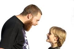 rodzinna zabawa ojca dziecka Zdjęcia Stock