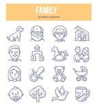 Rodzinne Doodle ikony Zdjęcia Royalty Free
