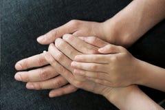 rodzinne ręki Zdjęcie Royalty Free