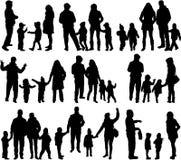 Rodzinne sylwetki - ampuły grupa ilustracja wektor