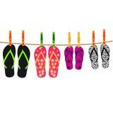 Rodzinne trzepnięcie klapy z arkaną i clothespins Fotografia Royalty Free