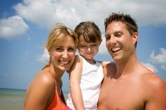 rodzinne wakacje na plaży Zdjęcie Royalty Free