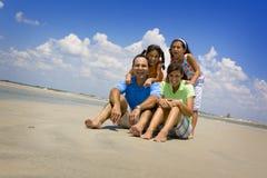 rodzinne wakacje na plaży Obraz Stock
