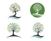 Rodzinnego drzewa loga szablon ilustracji